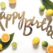 Sünnipäeva vanik Happy Birthday.
