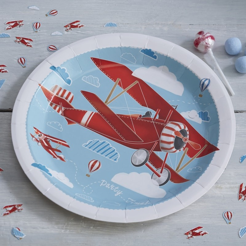 & Plane Paper Plates - Flying High