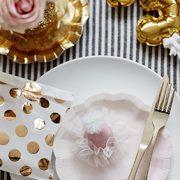 Tordi taldrikud – kuldne ja roosa