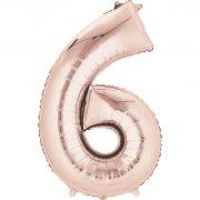 Suured õhupallid numbriga – roosa kuld