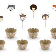 Cupcake komplekt Metsloomad