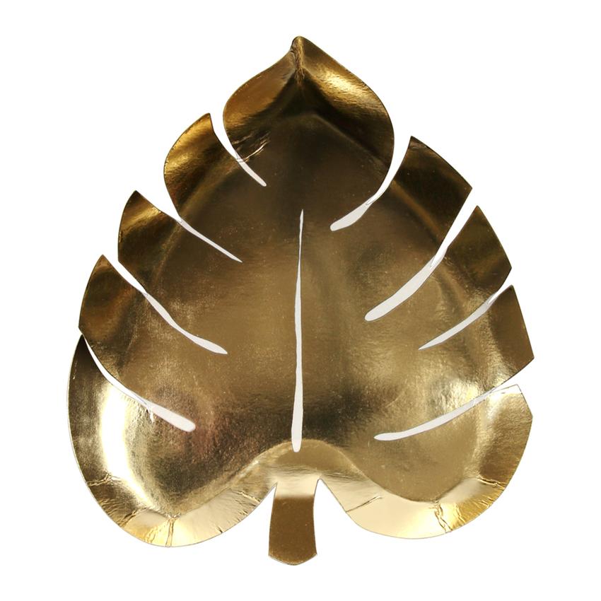 4a412370fe7 Palmi leht - kuldne taldrik - ühekordsed nõud - Happymania