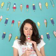 Värviline jäätise pidu