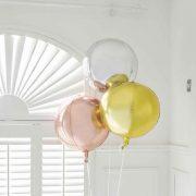 Metallic orb õhupall – kollane kuld