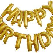 Sünnipäeva õhupallid Happy Birthday – kuldne