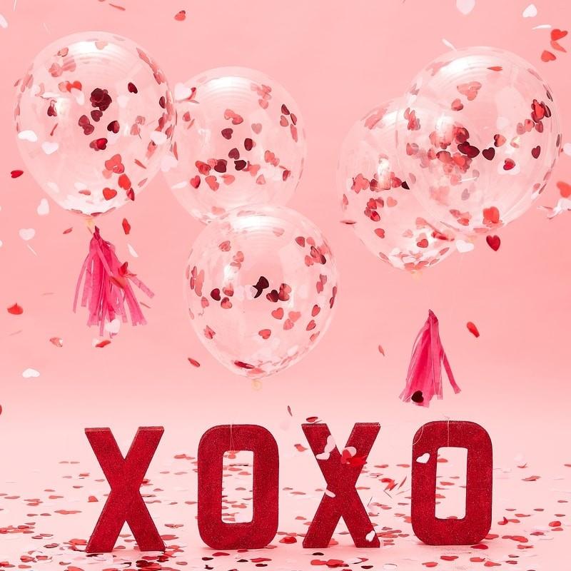0c5b3ad340c Õhupallid confettiga südame kujul