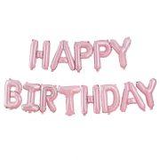 Roosa Happy Birthday õhupallide vanik