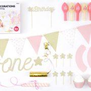 Party in a box – esimene sünnipäev – roosa