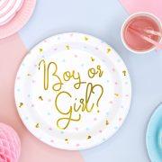 Boy or Girl taldrikud