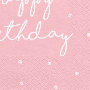 Sünnipäeva roosa salvrätikud